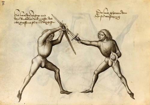 10-Lucha sin armadura con escudo pequeño(traduccion aproximada)y espada 117v