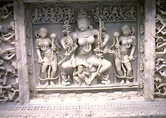 Jain Temple, Mount Abu, Rajasthan, India, 1969 (east med wanderer) Tags: sculpture india 1969 temple marble ornate jain mountabu rajasthan jainism historicindia dilwara theindiatree worldtrekker