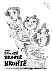BRONT, Anne, Emily & Charlotte (Morales de los Ros) Tags: writers caricaturas philosophers caricatures escritores filsofos