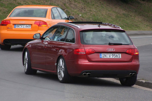 Audi A4 Avant Black. 2009 Audi A4 Avant rear view