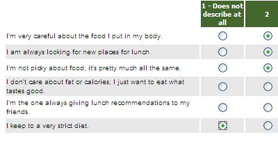 Quiznos Survey: Healthy?
