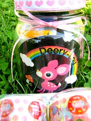 Jar I made for a friend (Treenie Beanie) Tags: swap kawaii jar deerylou whimsyjar
