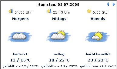 Wetter, Dannenberg, 05.07.08 (c) Wetter.com