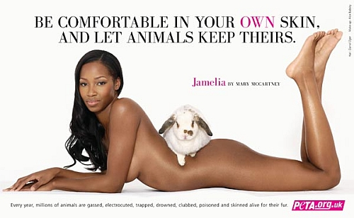 Pop star Jamelia - nude campaign