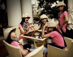 Conversation in herself (Syka L Vy) Tags: girls love wonderful cafe funny sleep talk meeting vietnam vy same 2008 dreamer sleepwalker l syka vng vietbestphoto fromsykawithlove sykalevy lehoangvy sundayspirit