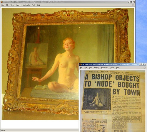 THE NUDE | Case study: Sir Gerald Festus Kelly, D.D. V (a) (Nude Study) (1924)