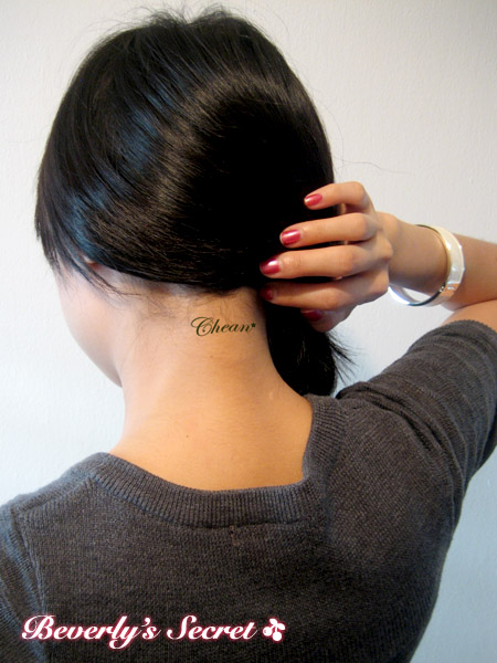 of neck tattoo. Picture