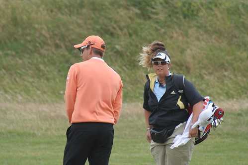 Henrik Stenson and his caddie Fanny Sunesson, 2008 British Open