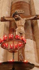 I am the light! (Angelkillerz) Tags: lights cathedral jesus crucifix inri cathedraldessaintsmichaeletgudule 2tea