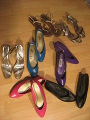 New Shoe Scores (seaotter22) Tags: shoes pumps forsale sandals used collection collections heels yardsale garagesale reused