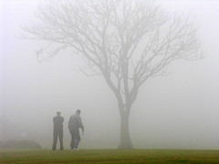 Golfistas (Claudio Marcon) Tags: brazil tree nature weather fog brasil golf natureza silhouettes santamaria neblina rs rvore niebla riograndedosul siluetas nvoa nevoeiro silhuetas golfe itaara cerrao mouseion fotoclube thefinalcrown claudiomarcon claudiolmarconribeiro