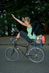 Look Ma .... no hands or feet needed...wooohooo (Eyesplash - the new slow way) Tags: bicycle fun crazy criticalmass guessed soe nohands karianne guesswherevancouver anawesomeshot thatsclassy pointsqueakymarmot