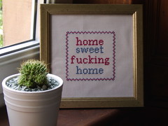 Home Sweet Fucking Home (The Bellwether) Tags: cool interiors sampler handmade embroidery kitsch homewares indiedesigner misofunky emobroidery homesweetfuckinghome