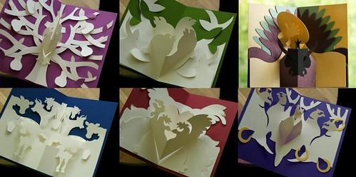 Kirigami popup cards