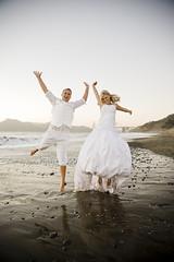 Joyus jump (ZekaG) Tags: sf wedding white beach canon happy jump dress happiness handsintheair