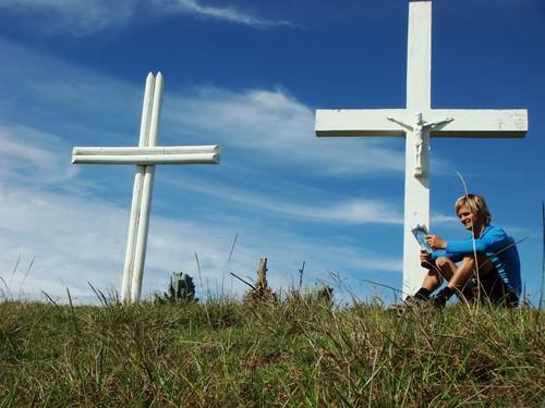 I wasn't exactly reading the Bible. Maunga Tangaroa, Rapa Nui.