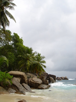 Anse Takamaka on Mahe (Seychelles)