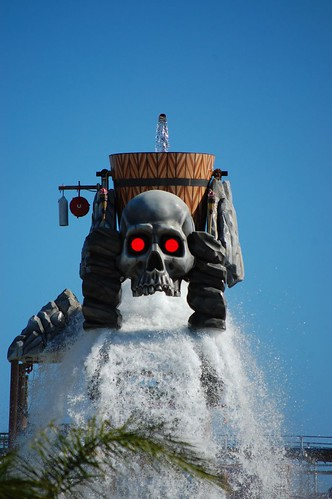 Six Flags used our traffic signals at Skull Tower