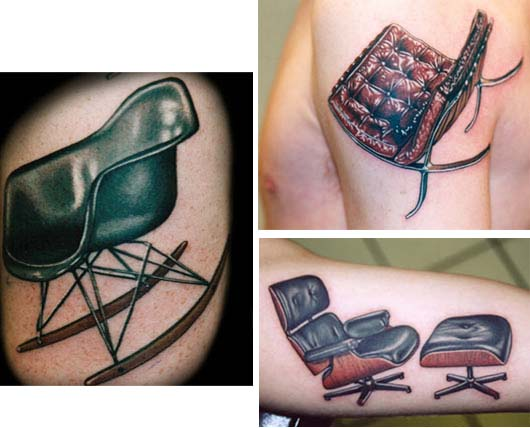 Another thing that says mid-century modern: tattoos: eames tattoos