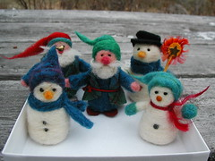 Wooly inspiration (HappyCatStudio) Tags: wool nature angel felted vintage toy mouse rodent beads snowman rat doll natural tail joy maine creative whiskers mice fantasy paws magnificent roving ratty needlefelted