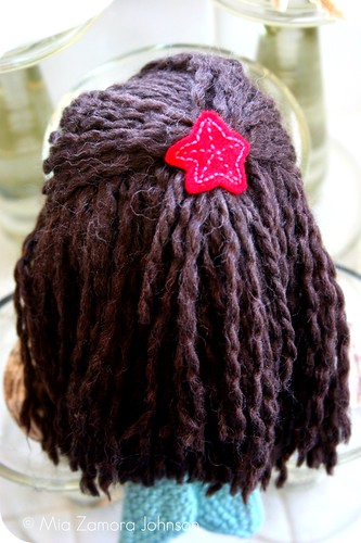 Sea star in her hair