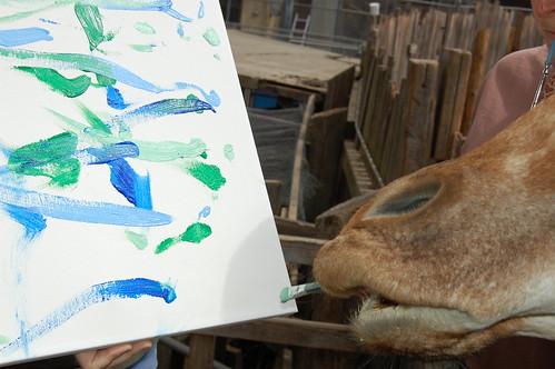 Oakland Zoo - Benghazi painting 2