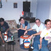 20000212 - our wedding reception after-party - 01411 - Tony A, Sean H, Eve, Roger, Clint, Brent