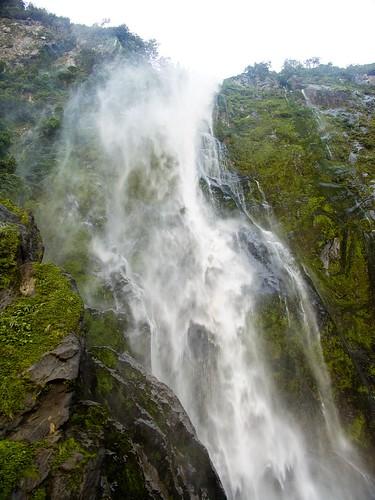Fiord waterfall