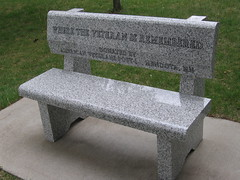 Memorial Bench (emily7m) Tags: katherine stpaul fortsnelling
