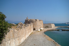 Fortress of Rion (Ava Babili) Tags: summer building castle architecture landscape greece fortress middleages rion peloponnese flickrdiamond