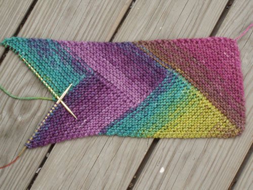 Free Knitting Pattern For Short Row Scarf : The Pioneer Braid Scarf Hither and Yarn