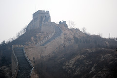 Alone on the Wall (pellephoto) Tags: china people wall stair tourist peking greatwallofchina chinise kinesiskamuren bejijng