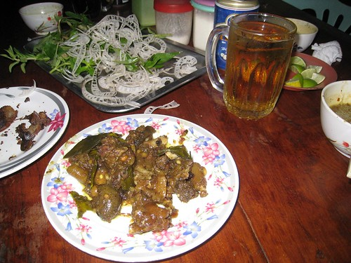 Delicious dog meat - Battambang, Cambodia