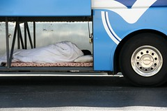 Sleep at work (judi333) Tags: bus jerusalem driver rest damascusgate