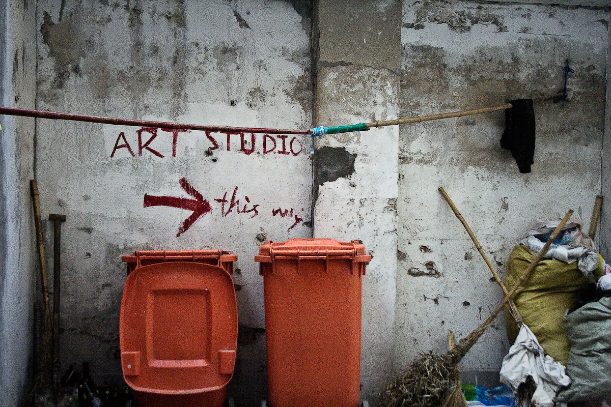 art studio this way