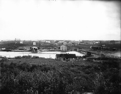 Amos, Quebec, QC, 1916 (?) (Muse McCord Museum) Tags: bridge canada buildings quebec amos dwellings 1916 abitibi mccordmuseum harricana musemccord