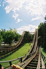 The Phoenix at Knoebels (Billybob Butcis) Tags: wood phoenix wooden fisheye rollercoaster top10 twister knoebels