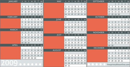 printable yearly pocket calendar