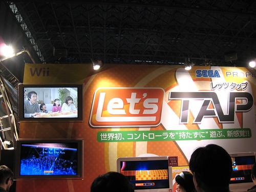 Un bout du stand de Let's Tap au Tokyo Game Show