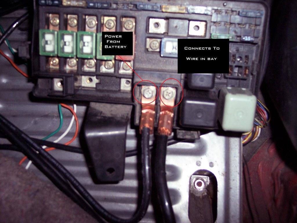 Honda Fuse Box Relocation Wiring Library Civic Battery Finally Extend The Wire That Goes From Right Screw On Fusebox I