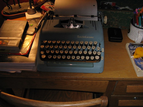 Messy Desk and the 1955 Smith-Corona Silent-Super