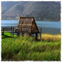 Ricostruzione (Reconstruction) di una palafitta al Lago di Ledro (Trentino) Italy