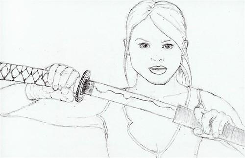Sword drawn