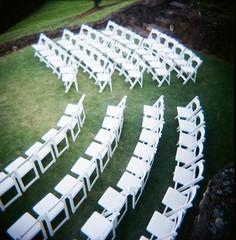 Before (George) Tags: wedding hawaii holga chairs kodakportra400vc rows kauai arranged whitechairs paulalishaswedding