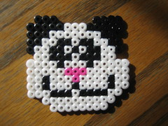 Perler Beads Panda Bear (Kid's Birthday Parties) Tags: bear kids beads crafts pandabear kidscrafts fusebeads hamabeads perlerbeads