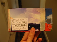 {come on come out} a lyrics mini (Perpetual*Bliss) Tags: scrapbooking paperart lyrics collages journal accordian minibook papercrafts gluebook afinefrenzy comeoncomeout