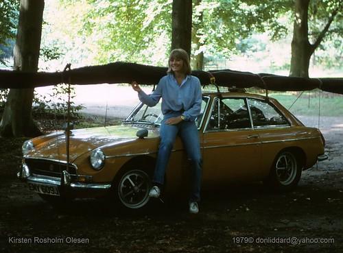 kirsten rosholm olesen ega  1979.08.26 x3ls Little Snoring Norfolk Hang Glider Towing mgb gt