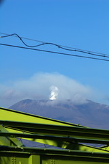 smoke of Mt. Asama