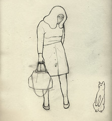 look at yourself! (Camilla Engman) Tags: face cat bag paper drawing staring