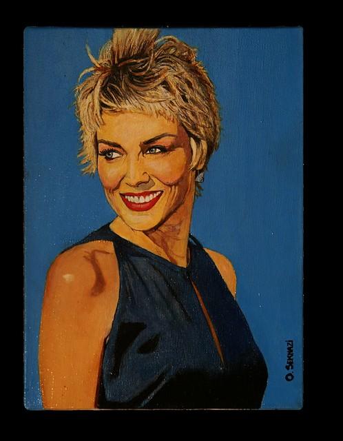 Sharon STONE - Portrait by oseknazi